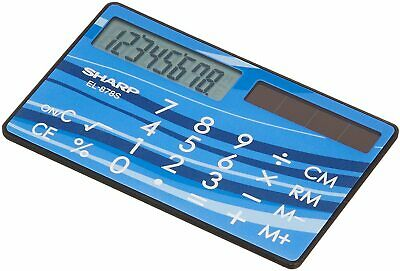 £12.29 • Buy New Sharp Calculator EL-878S-X Card, Credit Card Type From Japan