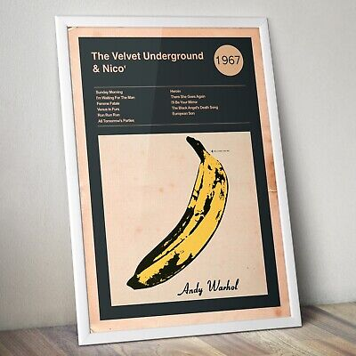 £13.99 • Buy The Velvet Underground Print, Album Cover And Track List, Andy Warhol Design