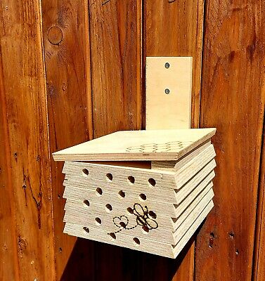 £13.99 • Buy Wooden Garden Bee House, Natural Bug/Insect Hotel, Outdoor Nest Box