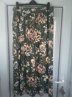 £7.99 • Buy Ladies Size 22 Spring Summer Skirt Stretchy Waist Long Floral Print Tall