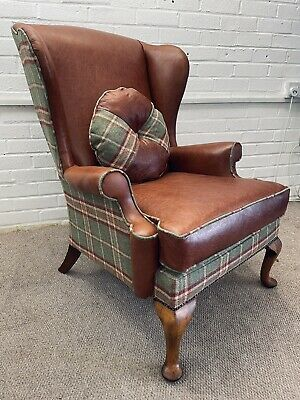 £50 • Buy Deposit For Parker Knoll Wing Back Chair Newly  Upholstered In Leather And Wool