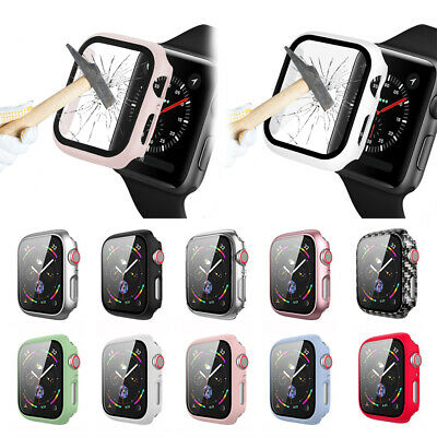 AU1.94 • Buy 44mm Tempered Glass Screen Protector Full Cover For Apple Watch Series 6 5 4