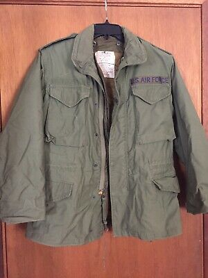 £70.98 • Buy Vintage US Air Force Military M-65 Field Jacket Size Small Utility Olive Green.