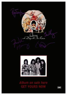 $15.94 • Buy Queen - POSTER - Live Concert - A Day At The Races Album Promo - Freddie Mercury