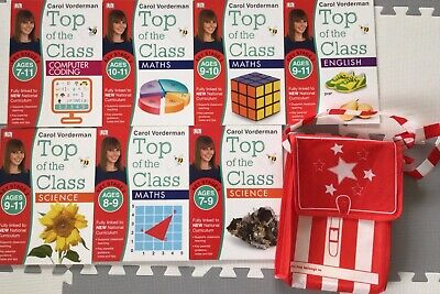 £0.99 • Buy Carol Vorderman Top Of The Class KS2 Math English Science Coding Books With Bag
