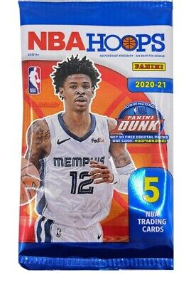 AU6.50 • Buy 2020-21 Panini NBA Hoops 5 Cards Per Pack - Exclusive YELLOW Parallel Insert