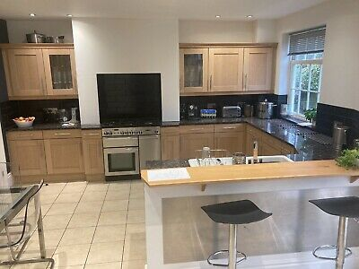 £102 • Buy Large, Reconfigurable, Solid Wood, Shaker Style Kitchen With Granite Counter Top