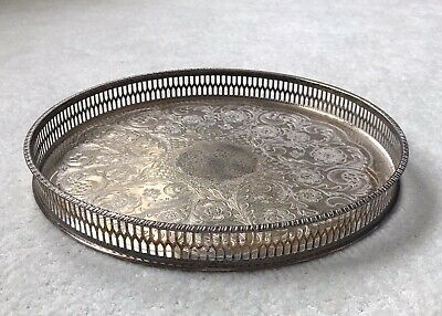 £12 • Buy Alpha Plate Vintage Silver Tray Viners Of Sheffield Cutlers Company 1836 Chased