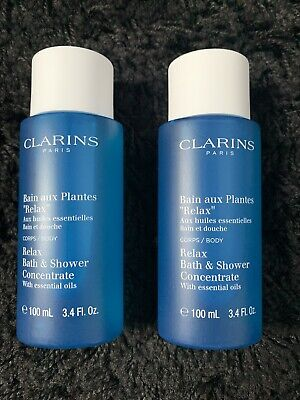 £16.90 • Buy Clarins Relax Bath & Concentrate Shower Gel With Essential Oils 2x 100ml