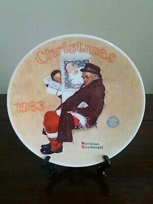 $ CDN29.23 • Buy Norman Rockwell's  Santa In The Subway  Plate By The Edwin M. Knowles China Co.
