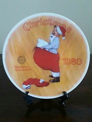 $ CDN29.23 • Buy Norman Rockwell's  Scotty Plays Santa  Plate By The Edwin M. Knowles China Co.