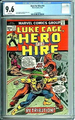 £104.52 • Buy HERO FOR HIRE 14 CGC 9.6 WHITE PAGES 10/73 Marvel Comics NEW CGC CASE