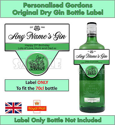 £2.79 • Buy Personalised Gin Label Gordons Special Dry London Any Name Occasion Christmas