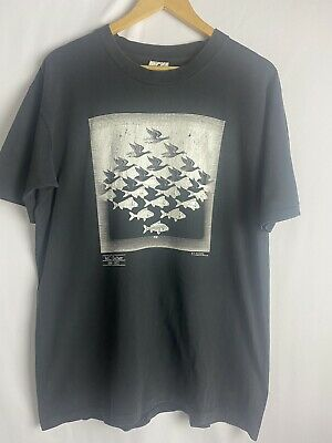 $120 • Buy Vintage 1991 M.C. Escher Heirs, Sky And Water T-Shirt Size L
