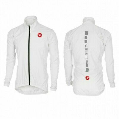 $59 • Buy Castelli Squadra ER Mens Cycling Rain Jacket - White New With Tags NWT Full Zip