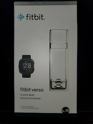 $ CDN18.87 • Buy Brand New Fitbit Versa Classic BAND ONLY White Large  L/G  Authentic NIB