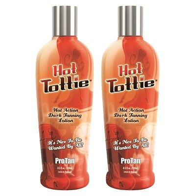 £26.99 • Buy 2 Pro Tan HOT TOTTIE Sunbed Tanning Lotion Cream Bottles 250ml + FREE GIFTS