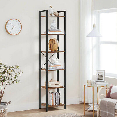 £63.80 • Buy Tall Industrial Bookcase Vintage Cabinet Shelving Display Unit Plant Stand Slim