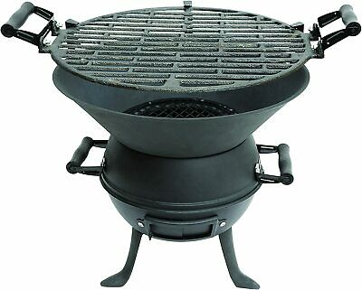 $ CDN75.60 • Buy Cast Iron Grill Outdoor Fire Pit Charcoal Bbq Grill Garden Patio Camping Summer