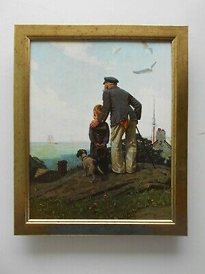 $ CDN34.63 • Buy Norman Rockwell Print 'Looking Out To Sea'  FRAMED