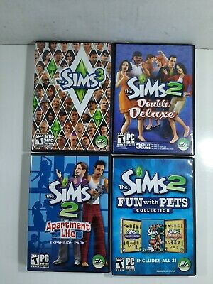 £14.46 • Buy The Sims Lot 2 Double Deluxe, Apartment Life, Pets.& 3 Complete Window PC-CD ROM