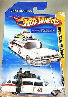 £10.79 • Buy 2010 Hot Wheels #25 New Models 25/44 GHOSTBUSTERS ECTO-1 White W/Chrome 5 Spokes