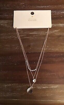 £5 • Buy Oasis Necklace Brand New. Necklace Gold And Pale Pink Design .triple