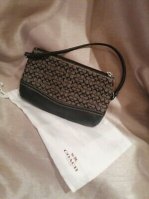 £9 • Buy COACH Fabric /Leather Purse Brown With Dust Bag