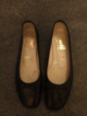 £2.99 • Buy Riva Ballerinas Black Leather Shoes Euro 36 UK 3 Good Condition