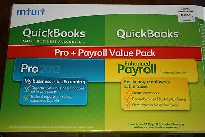 £106.20 • Buy Intuit Quickbooks Pro + Payroll Software Installation Discs