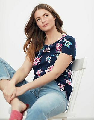 £11.96 • Buy Joules Womens Carley Print Classic Crew T-Shirt - Navy Floral