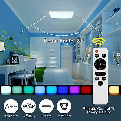 £32.15 • Buy RGB LED Ceiling Lights Square Panel Down Light Kitchen Bedroom Living Room Wall