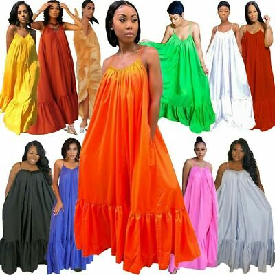 £17.13 • Buy Women Plus Size Sleeveless Ball Gown Sexy Party Maxi Dress Loose Swing Dresses