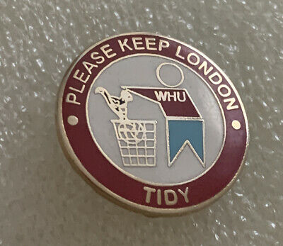 £4.99 • Buy Old & Rare West Ham Supporter Enamel Badge - Wear With Pride - Add To Collection