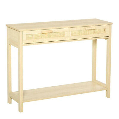 £69.80 • Buy Slim Hallway Console Table Hall Entryway Living Room Furniture Narrow 2 Drawers