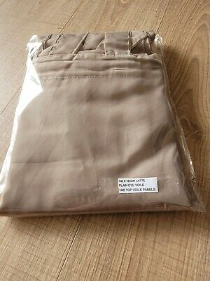 £10 • Buy A Pair Of High Quality Voile Curtain 2 Panels 10cm Long Tab Top Solid Sheer.