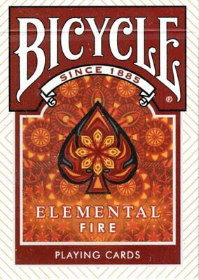 £6.95 • Buy 1 Deck Bicycle Elemental Fire Magic / Poker Playing Cards - New & Sealed
