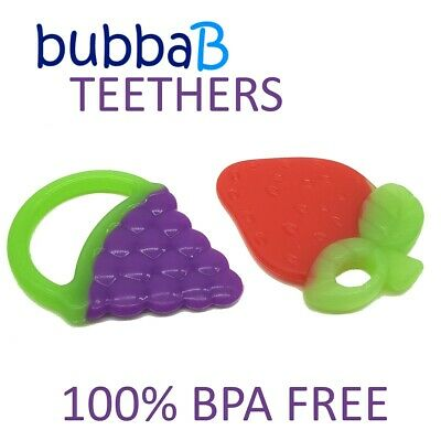 £3.95 • Buy Silicone Fruit Teether Bendable Ring Baby Toddler Sooth Teething Pain Strawberry