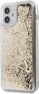 £19.95 • Buy Guess  Case For IPhone 12 Mini 5.4 Inch Liquid Charms  Glitter