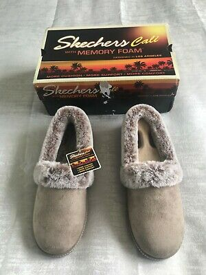 £15 • Buy Womens Skechers Slippers Size 5 New In Box Taupe