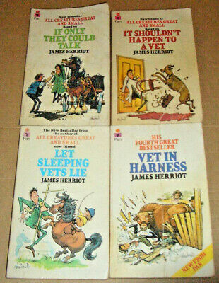 £10.50 • Buy Set Of 4 James Herriot Paperback Books With The Classic Thelwell Cartoon Covers