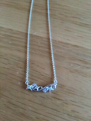 £30 • Buy Genuine Chamilia Necklace In Sterling Silver  With Clear Stones
