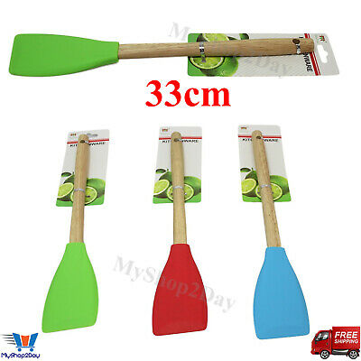 £3.47 • Buy Non-Scratch Wooden Silicone Spatula Utensil Mixing Spoon Cooking Baking Kitchen