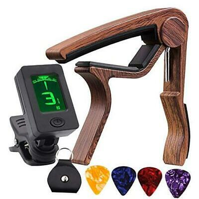 $ CDN18.01 • Buy Guitar Tuner And Guitar Capo, Clip-On Tuner With Rosewood Color Capo For