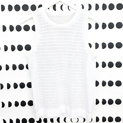 $ CDN54.64 • Buy Lululemon Tank Top Size 6 White Breeze By Muscle Perforated Mesh Seamless