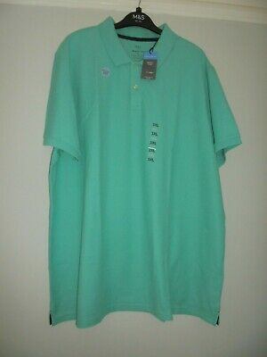 £7.99 • Buy M&s Marks & Spencer Light Jade Polo T-shirt With Cool Comfort Uk Size 3xl