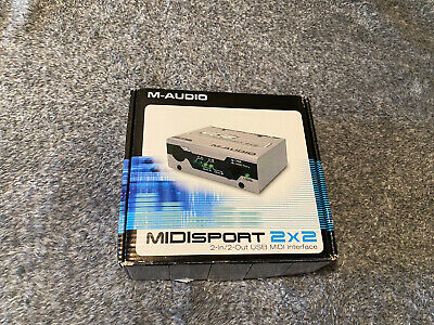 $50 • Buy M-AUDIO MIDISPORT 2x2 USB BUS-POWERED 2-IN/2-OUT 32 MIDI CHANNEL INTERFACE