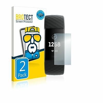AU33.24 • Buy 2x BROTECT® Flex 3D Curved Full Cover Tempered Screen Protector Fitbit Charge 3