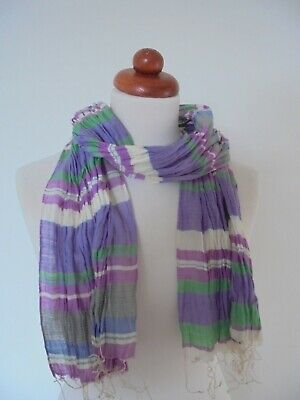 £2.99 • Buy Seasalt - The Lovely 'half A Day Scarf' In  Cotton With A Touch Of Silk