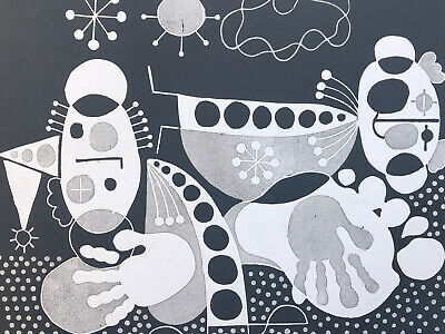 $ CDN34.31 • Buy Vintage Abstract Print Lino Cut Signed 1974 Limited Edition  Roger Whitmore